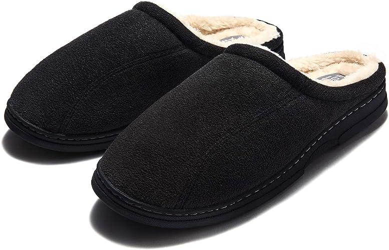 GaraTia Mens Fluffy Cozy Slipper Slip