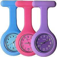 Reloj para enfermeros con broche, hecho de silicona