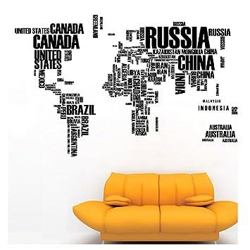 Amazon fashion new english alphabet world map wall sticker fashion new english alphabet world map wall sticker gumiabroncs Image collections