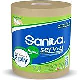 Sanita Natura 2 Ply Maxi Tissue Roll, Extra Absorbency 135m