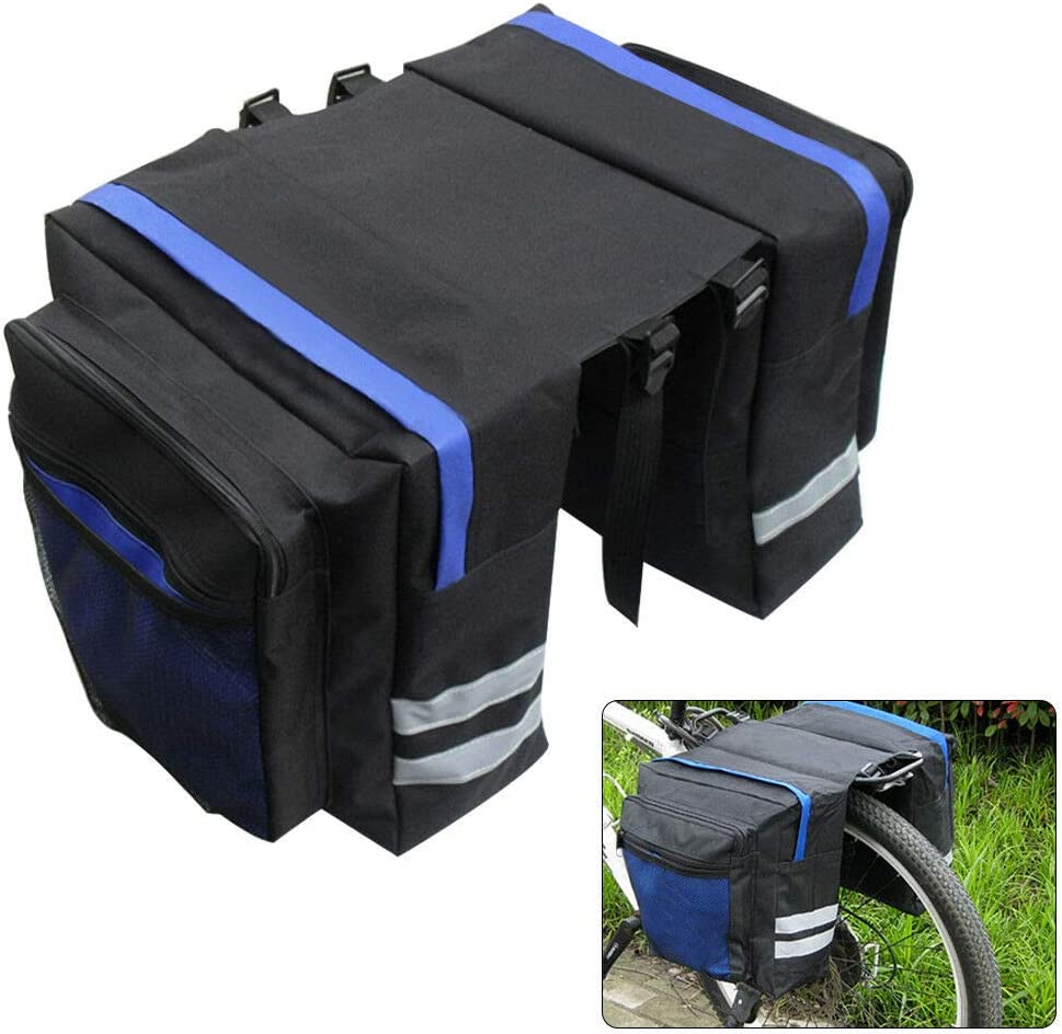 UK Bike Bag Bicycle Double Panniers Cycling Rear Seat Trunk Rack Pack Waterproof