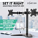 Artiss Dual Monitor Mount HD LED Monitor Arm Stand TV Screen Mount Holder 2 Arm Display Freestanding