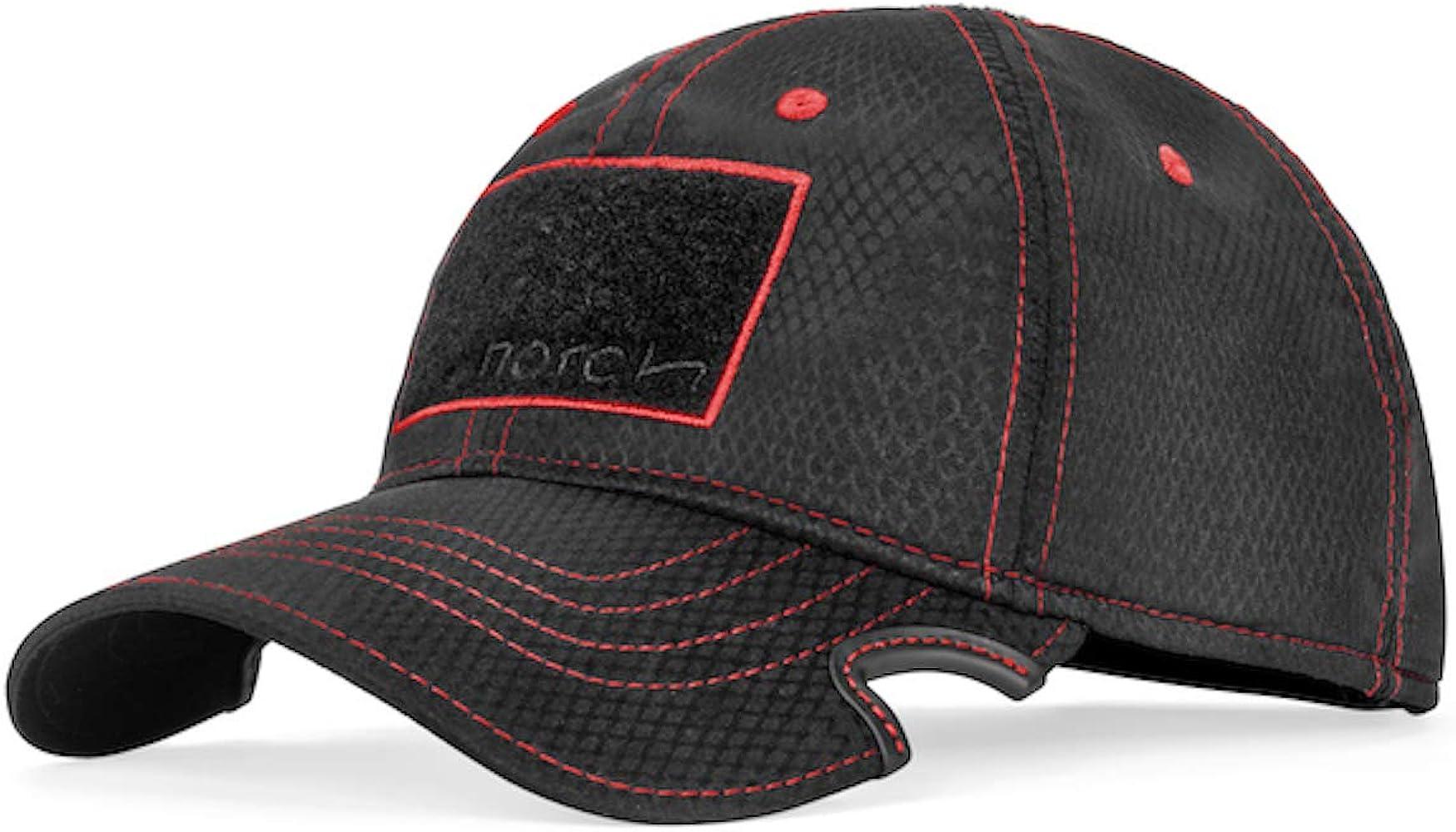dbe4bf1364b7e5 Notch Classic Adjustable Athlete Operator Black/Red Cap-Men's at ...