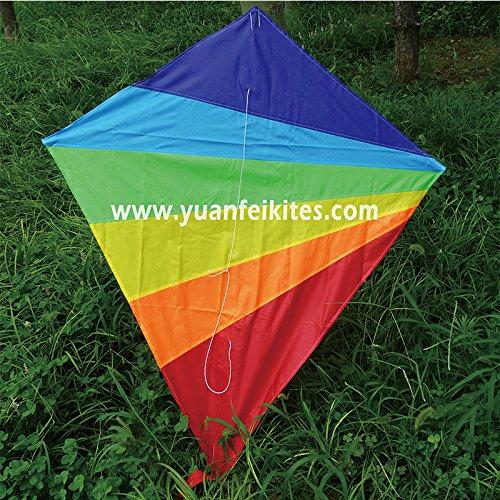 guz rainbow diamond kite for kid and adult, Best for Beach and Summer Fun