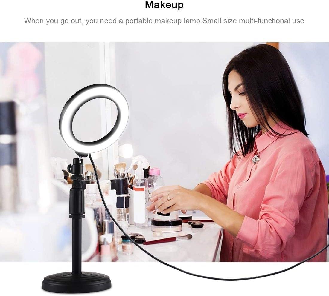 18cm-28cm Durable Adjustable Height CAOMING Round Base Desktop Mount for LED Ring Video Light
