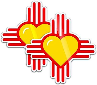 Zia Original New Mexico NM state flag symbol sticker decal