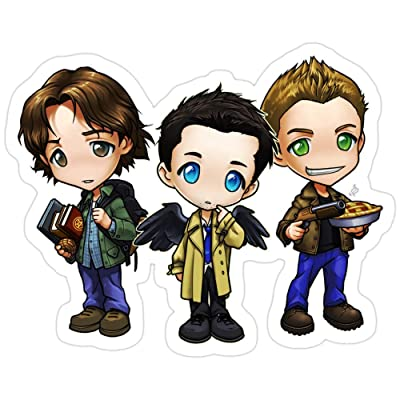 B. Strange Mall Team Free Will - Chibi Style Stickers (3 Pcs/Pack): Kitchen & Dining