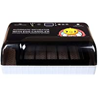 Triocottage Egg Incubator, Hatching 12 Chicken 8 Ducks 35 Quail 2 Goose Eggs,Automatic Egg Turning Turner and Automatic…