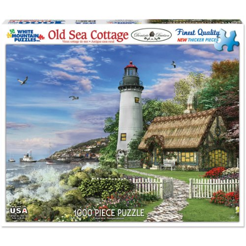 Cottage Sea (White Mountain Puzzles Old Sea Cottage - 1000 Piece Jigsaw Puzzle)