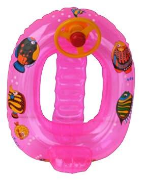 BARCA PLAYA HINCHABLE BABY PECES 72CM C/VOLANTE color rosa ...