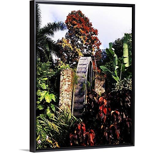 (Greg Johnston Floating Frame Premium Canvas with Black Frame Wall Art Print Entitled Half Moon Resort, Montego Bay, Jamaica 18