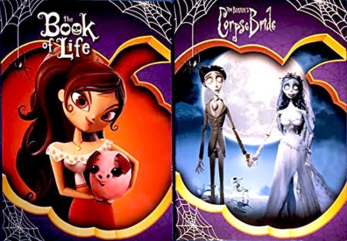 Tim Burton's Corpse Bride & Book of Life DVD Animated Film Bundle 2-pack Exclusive Covers