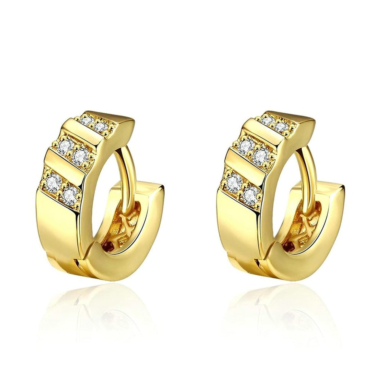 Shoppen Sie 18K Vergoldet Ohrringe, Damen Ohrstecker Runde Form ...