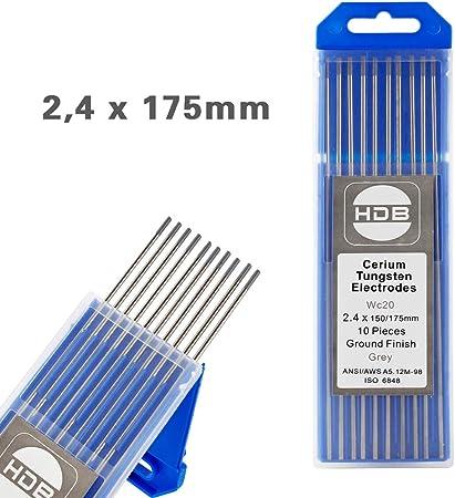 2.4 mm x 150 mm bleu de tungstène 2/% la Courant DC TIG électrode de soudage