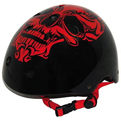 Best Sport Red Skull Casque de roller skate
