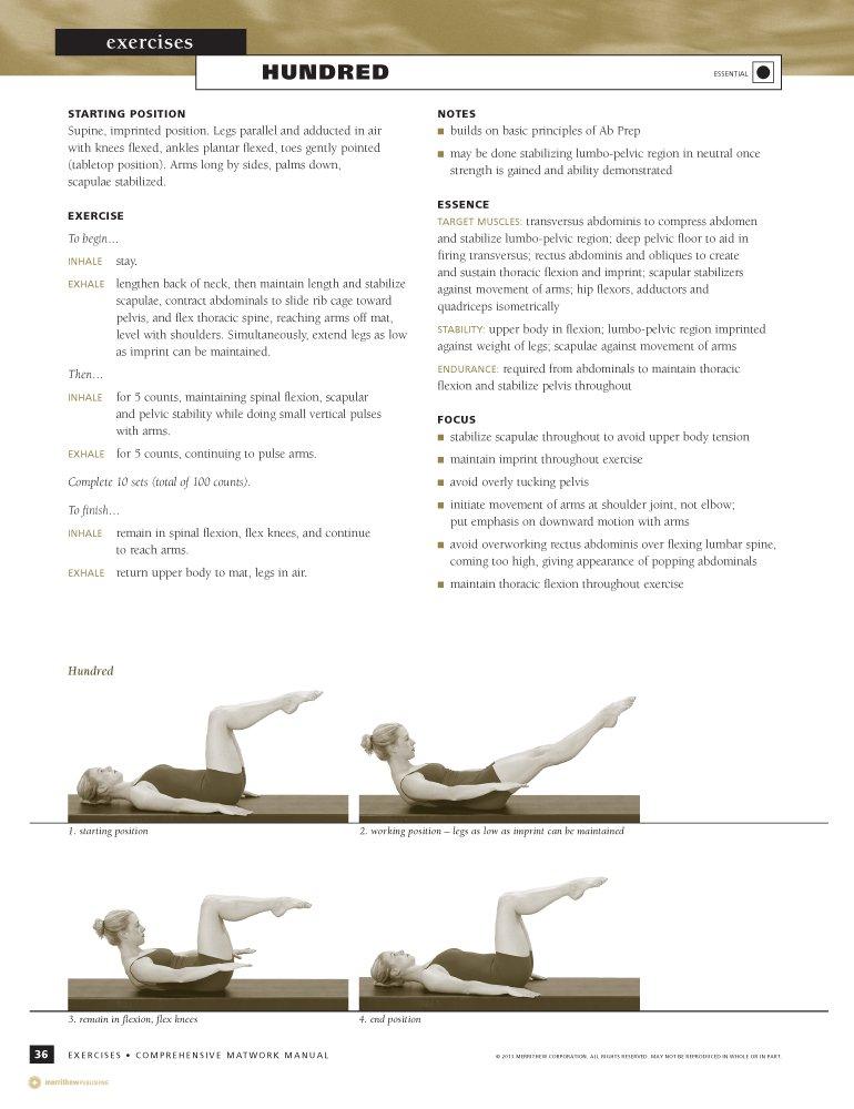 English Comprehensive Matwork STOTT PILATES Manual