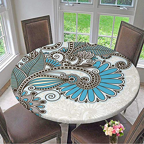 Mikihome The Round Table Cloth Ornate Card Announcement for Birthday Party, Graduation Party 31.5