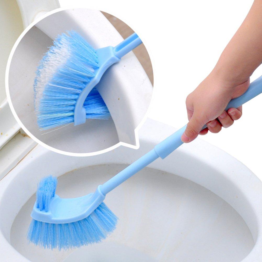 Toilet Rim Cleaning Brush Toilet Bowl Cleaning Brush Random Color (1 Pcs) EQLEF® TRTA11A