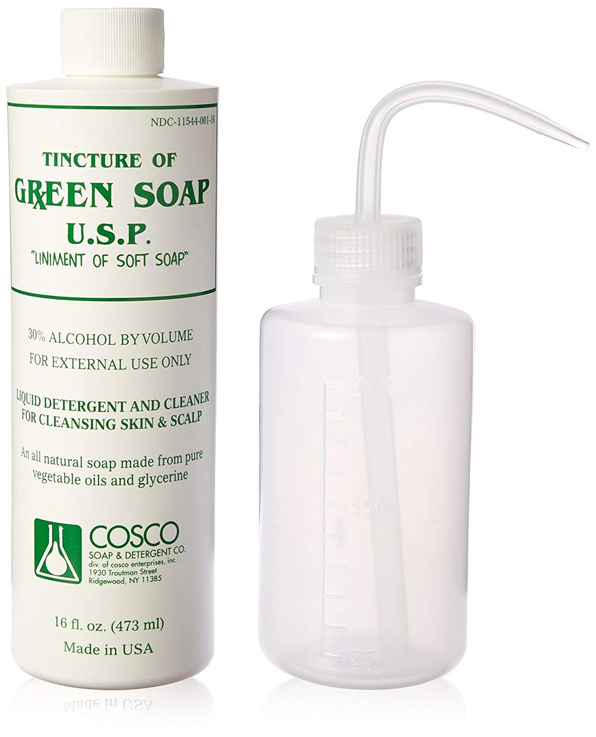 Cosco Green Soap 1 Pint + squeeze bottle 8ounce by Cosco