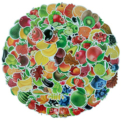 Price comparison product image 100Pcs Cute Fruits and Vegetables Decal Stickers for Laptop and Water Bottles, Waterproof Durable Trendy Vinyl Laptop Stickers Pack for Teens,  Water Bottles,  Computer,  Travel Case (Fruits & Vegetables)