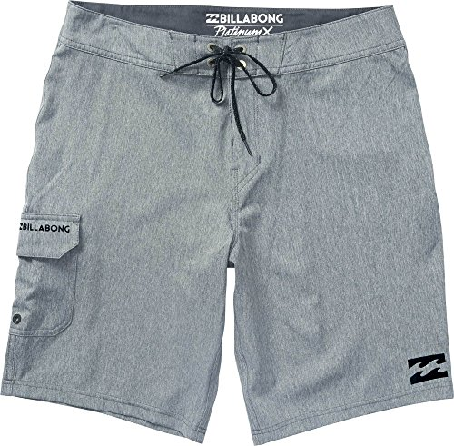 Billabong Pops (Billabong Men's All Day Stretch Boardshorts, Charcoal Heather Solid, 36)