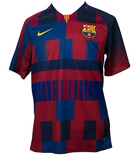 factory authentic 7bc19 6bb5e Lionel Messi Signed Nike Barcelona 20th Anniversary Soccer ...