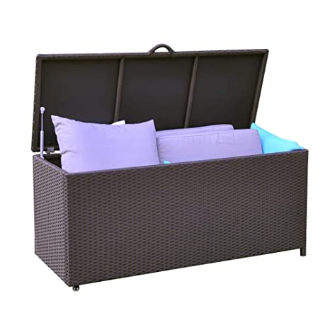 Strange Art To Real Aluminum Frame Heavy Duty Outdoor Wicker Deck Storage Box Garden Container Bench Chest For Cushions And Toys Uwap Interior Chair Design Uwaporg
