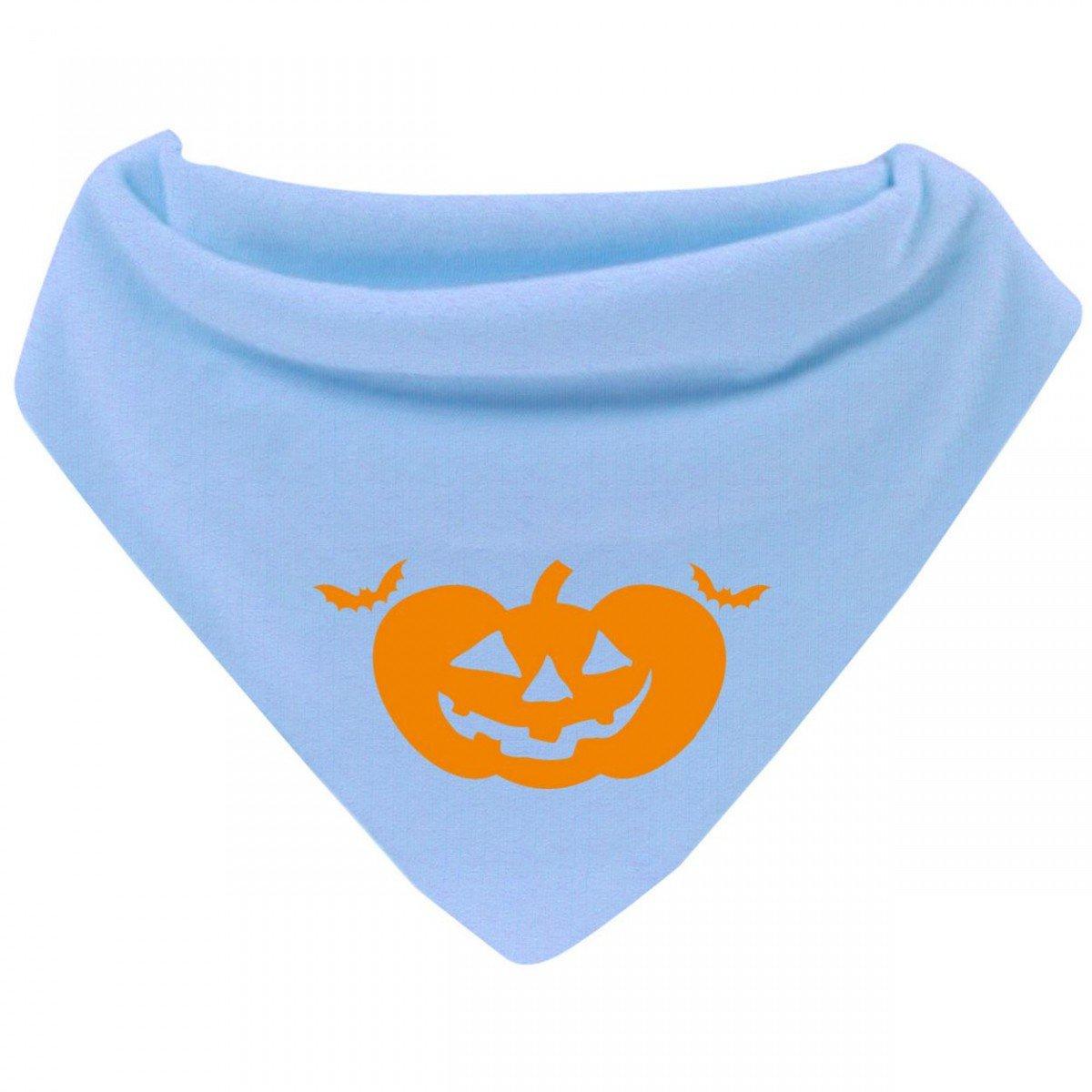 Mikalino Baby Halstuch Bandana Halloween Kürbis mit Klettverschluss Farbe:navy