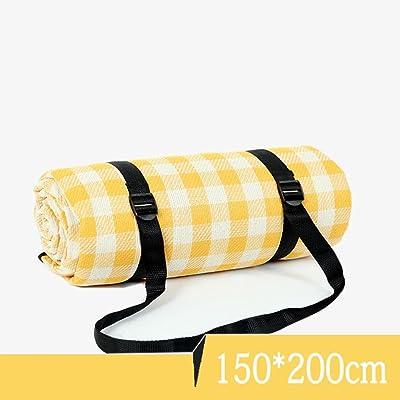 LXLA- Coussin étanche à l'humidité épaissir pique-nique tapis de couverture Camping pliable sauvage tapis tissu Portable acrylique PEVA 150 / 200Cm