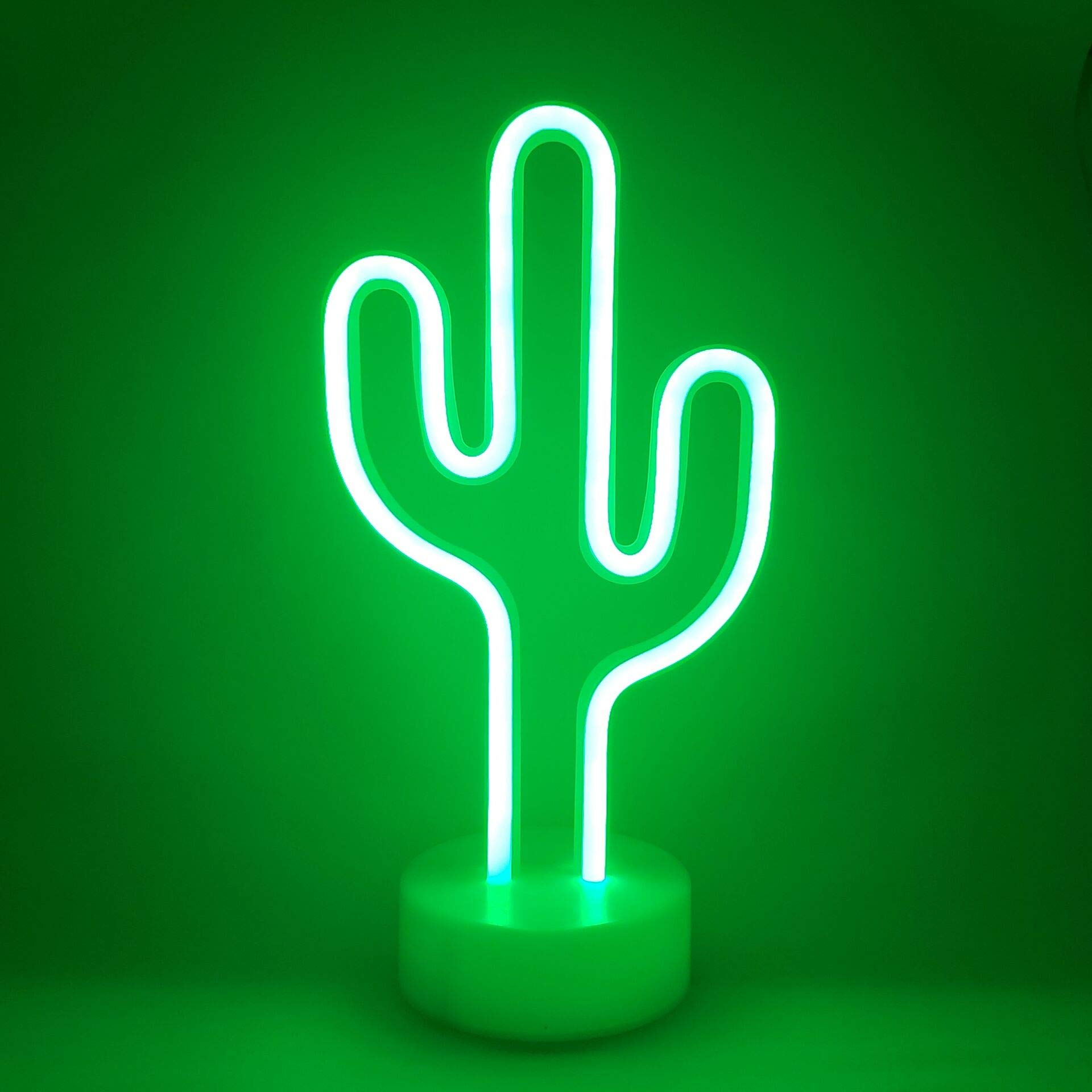 Led Neon Lights, LoveNite Cactus Shape Sign Indoor Decorative Glowing Night Light USB/Battery Operated for Wall Decor Home Party Festival Decoration Kid Baby Living Room (Green Cactus)