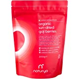 Naturya | Organic Sun-Dried Goji Berries 200g | Sustainably Farmed, Tested For Heavy Metals, Micro-organisms & Over 500 Pasticides