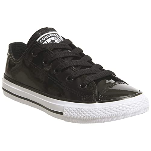 3094af5bdda9 Converse Chuck Taylor All Star Patented 90s Ox Black Synthetic Patent Youth  Trainers  Amazon.co.uk  Shoes   Bags