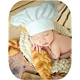 Fashion Newborn Boy Girl Baby Photography Props Outfits Photo Shoot Chef  Styling Hat White f065f55a8aab