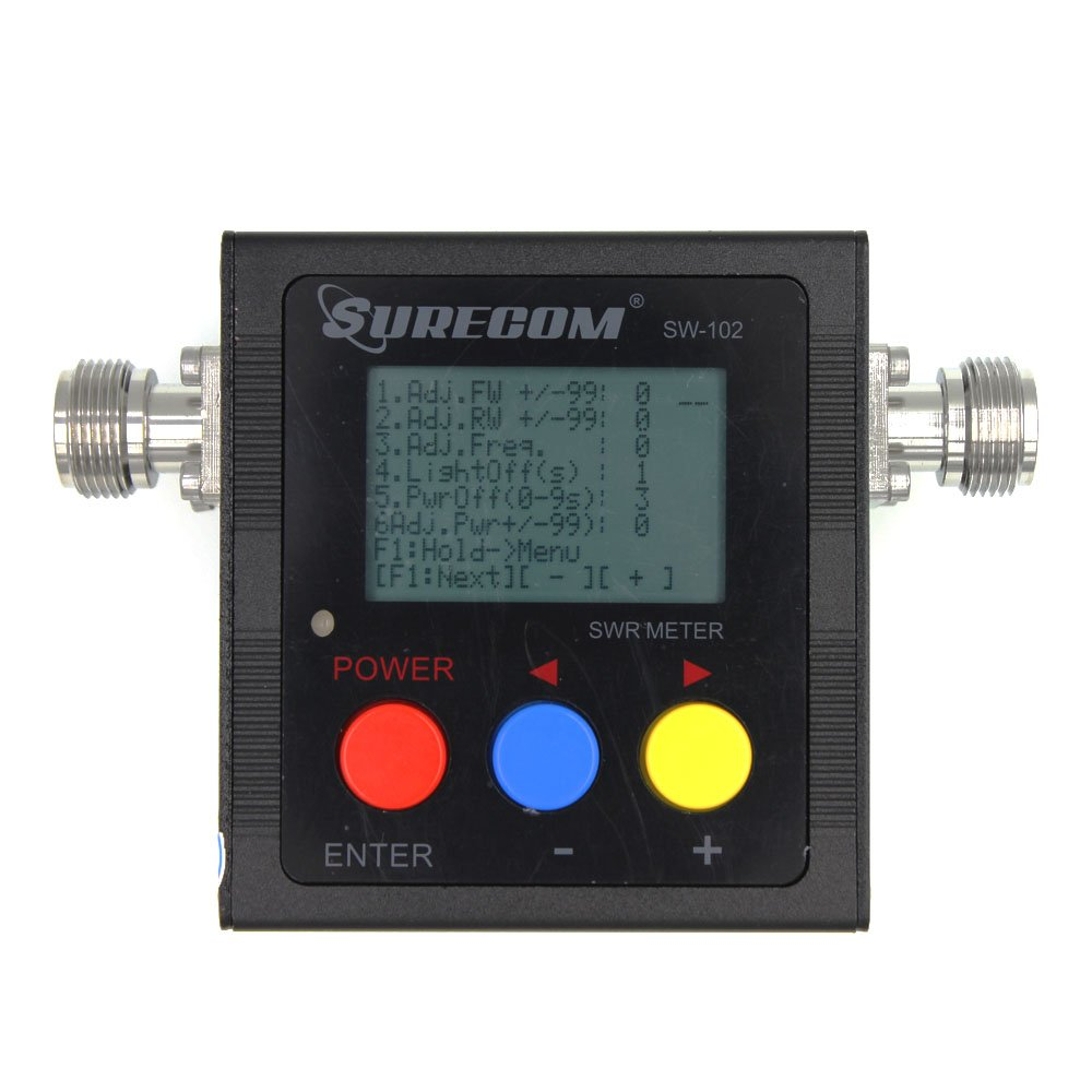 Surecom SW-102 125-525Mhz Digital VHF/UHF Antenna Power & SWR Meter+MF  connector