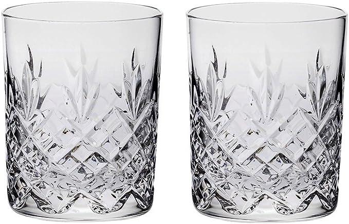 Royal Scot Crystal Highland Lot de 2/verres /à whisky en cristal Grand 11/oz avec bo/îte cadeau Noir