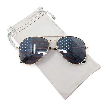 Amazon.com: TERAISE Gafas de sol clásicas con bandera ...
