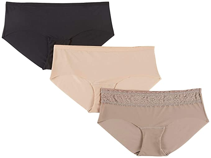3cf9c63b370e4 Jones New York Free Cut Hipster Panty - 3 Pack (JN64001) at Amazon Women s  Clothing store