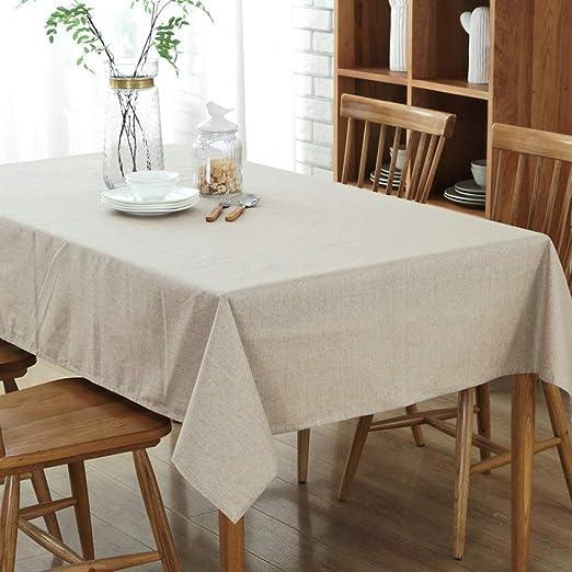 Myzixuan Mantel de la cocina simple mesa algodón cáñamo hogar mesa ...