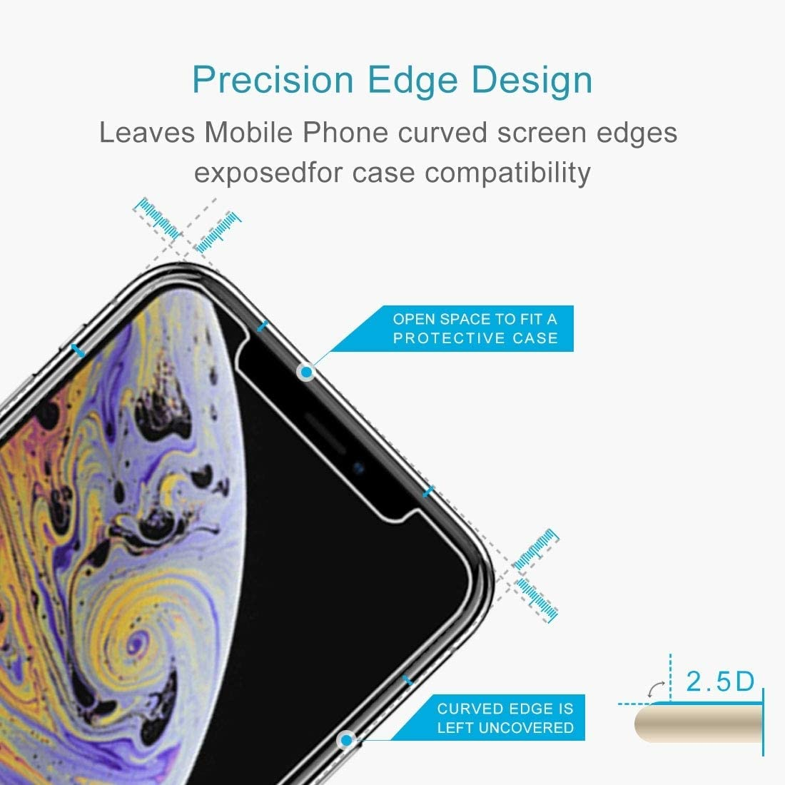 iPartsBuy Screen Protector for iPhone Xs Max 100PCS 9H 2.5D Tempered Glass Film for iPhone Xs Max