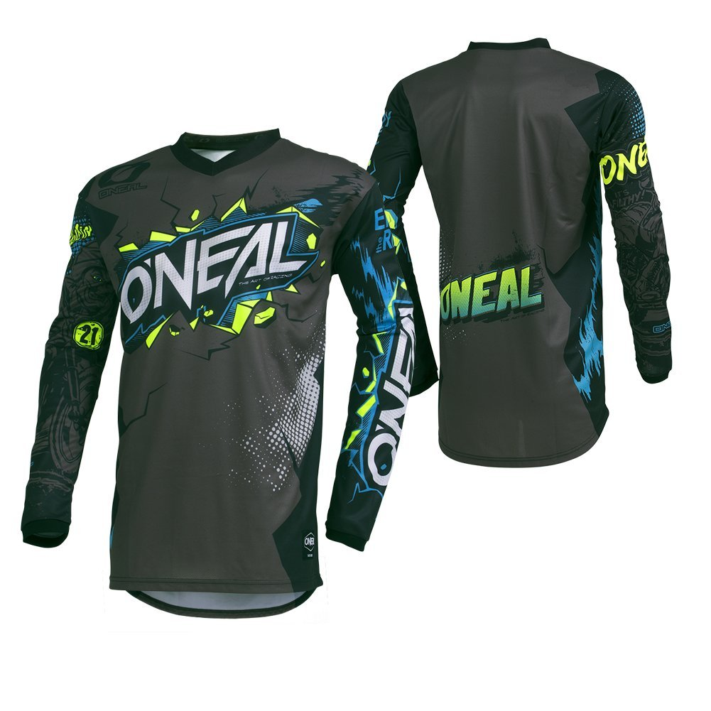 O'Neal Men's Element Villain Jersey (Gray, X-large) by O'Neal