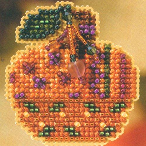 Jewelled Pumpkin - Pin Kit - Cross Stitch Kit