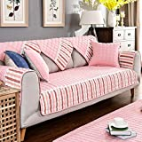 Cotton Sectional sofa throw cover pad For all season,Anti-slip Quilted furniture protectors For pet dog Slip cover For l U shaped sofa-1 piece-C 43x63inch(110x160cm)