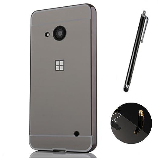 2 opinioni per Microsoft Lumia 550 Cover, LXHGrowH Custodia a Specchio per Microsoft Lumia 550