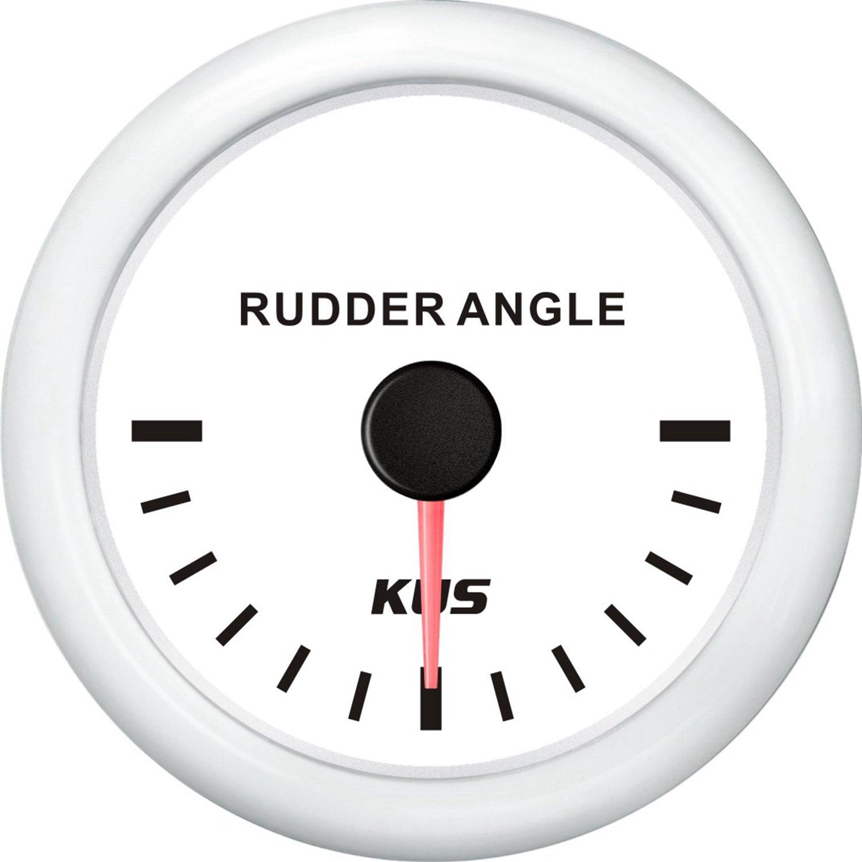 KUS Rudder Angle Indicator Gauge Waterproof Marine Station Rudder Sensor 52mm 12/24V 0~190ohms