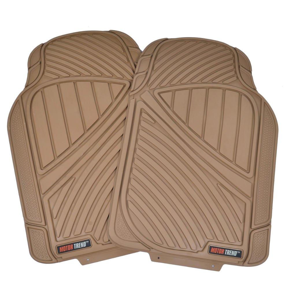 4pc Set Heavy Duty Rubber Floor Mats for Car SUV Van /& Truck Motor Trend FlexTough Standard MT-774-BG Tan Beige