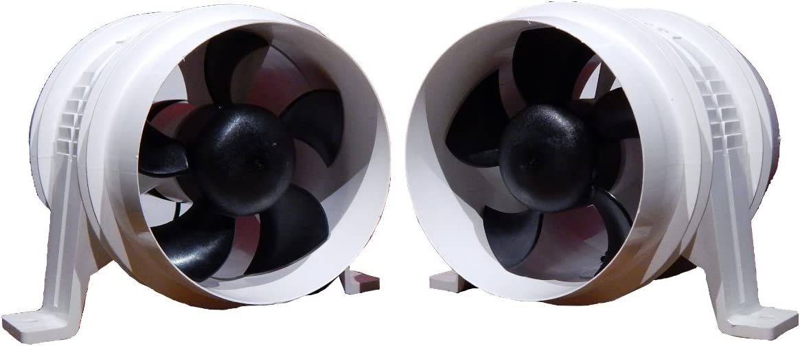 Marine 4 Electric In-line Blower for Boats /& Rvs 12V Attwood Turbo 4000 Set of 2