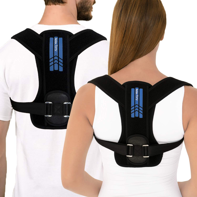 Unisex Posture Corrector for Men & Women | Adjustable Back Brace Posture Corrector | Under Clothes Upper Back & Spine Support | Back Straightener Posture Corrector