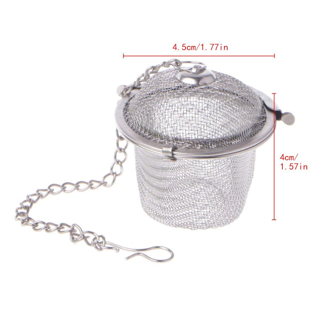 Yevison 3 Sizes Stainless Steel Ball Tea Infuser Strainer Mesh Filter Loose Leaf Spice Silver, Small Premium Quality by Yevison