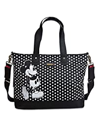 Disney Store Mickey Mouse Diaper Bag Storksak Black White Polka Dots New