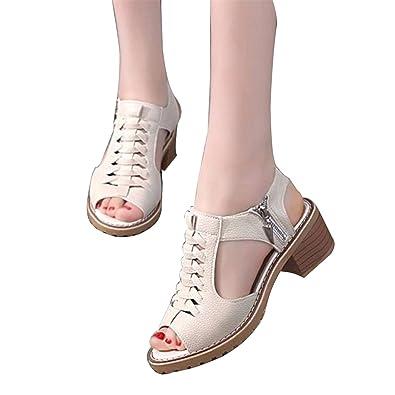 90689506249a5 Amazon.com | Feilongzaitianba Vintage Elegant Women's Sandals Summer ...
